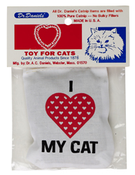 I Love My Cat Linen Bag Toy