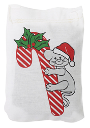 Candy Cane Linen Bag Toy