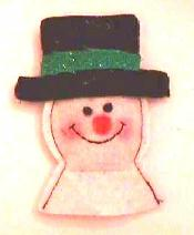 Top Hat Snowman Catnip Toy